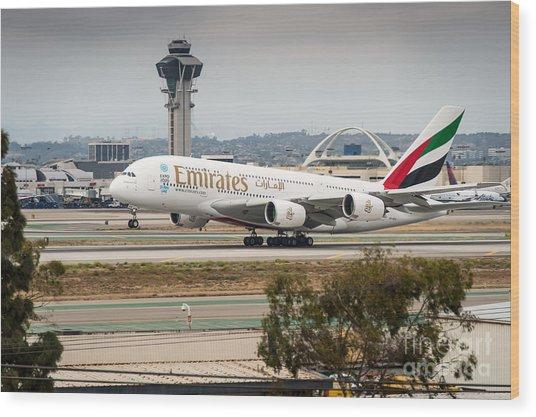 Emirates A380 Wood Print