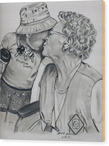 Emma And Great Grandma Wood Print
