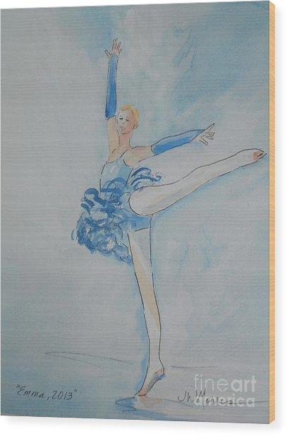 Emma Wood Print by Jill Morris