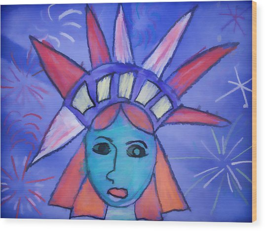 Emma's Lady Liberty Wood Print