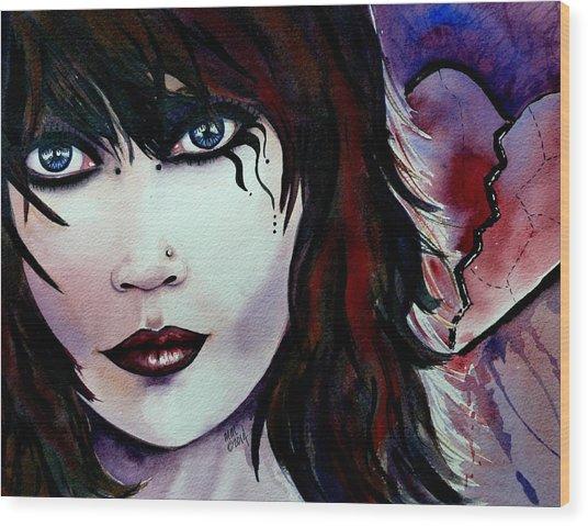 Emo Girl Wood Print