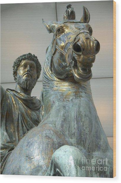 Emperor Marcus Aurelius Wood Print