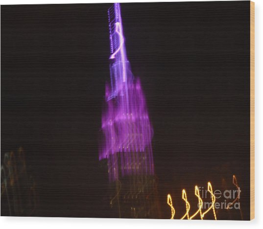 Empire Light Blur Wood Print