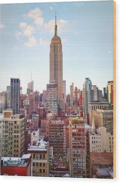Empire State Building Amidst Modern Wood Print by Matteo De Santis / Eyeem