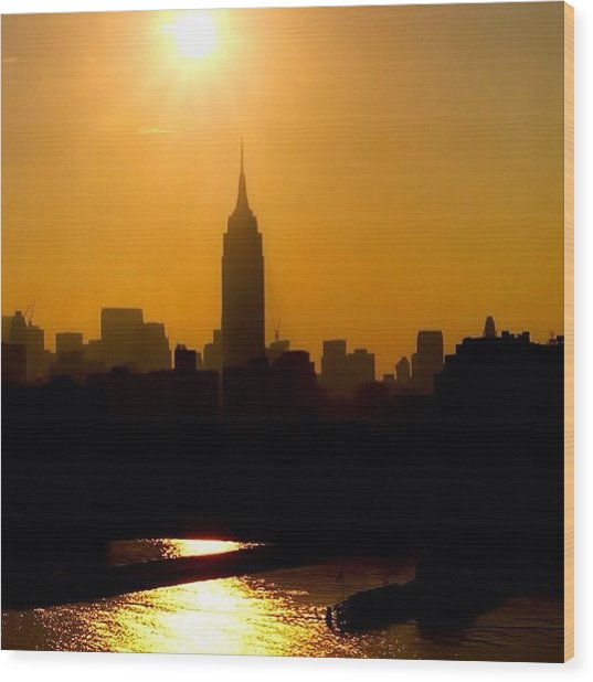 Empire State Building... Nyc.  #nyc Wood Print