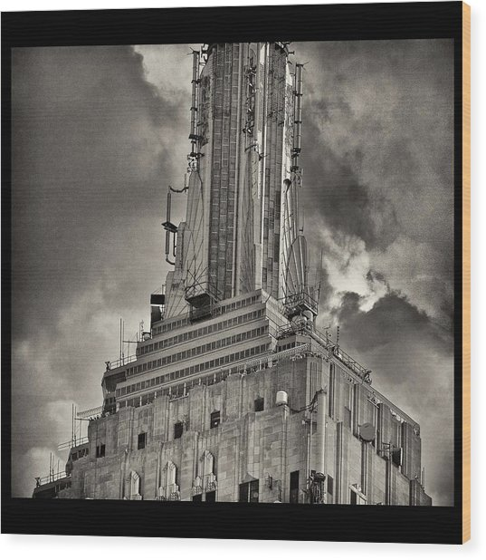 Empire State Building Wood Print by Scott Radke
