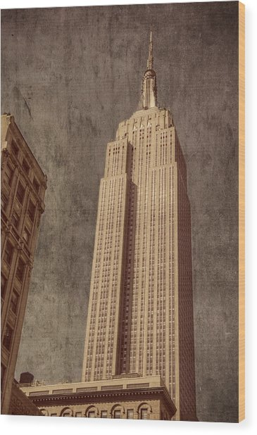 Empire State Building Vintage Wood Print