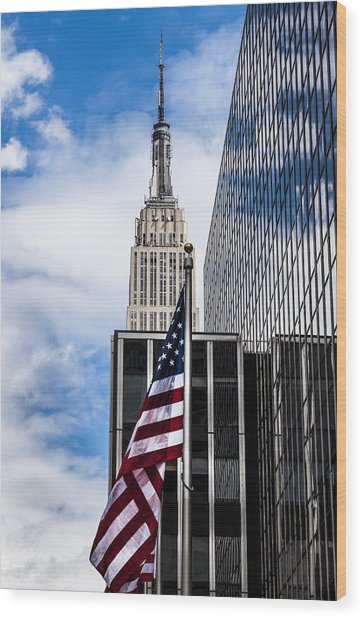 Empire State Wood Print by Chris Halford