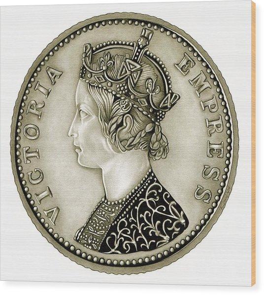 Silver Empress Victoria Wood Print
