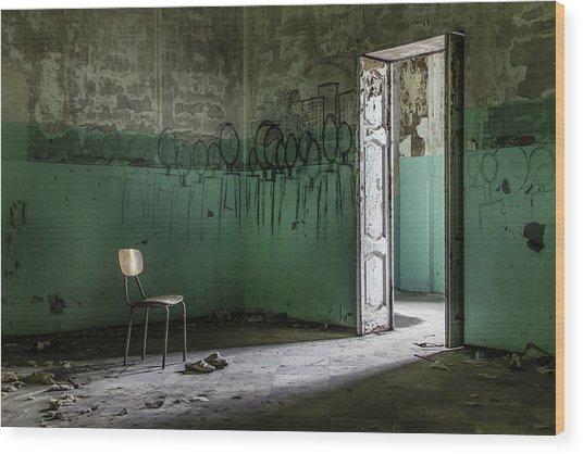 Empty Crazy Spaces Wood Print