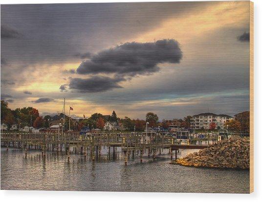Empty Docks Wood Print