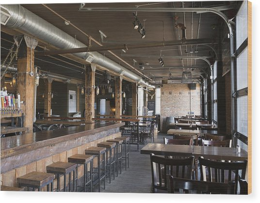 Empty Pub Wood Print by Hero Images