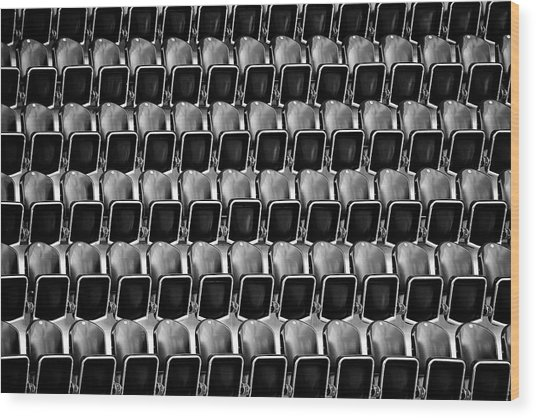 Empty Seats Wood Print