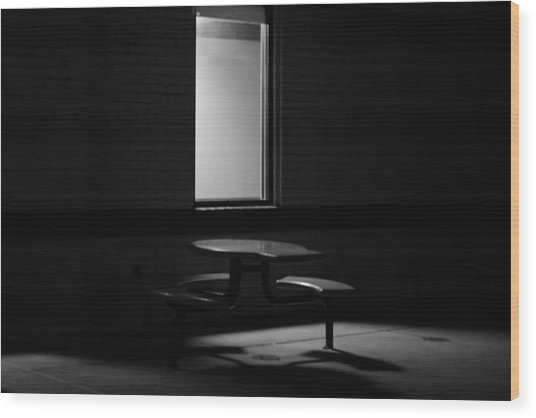 Empty Table Wood Print