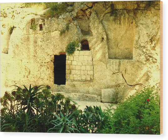 Empty Tomb Of Jesus Wood Print