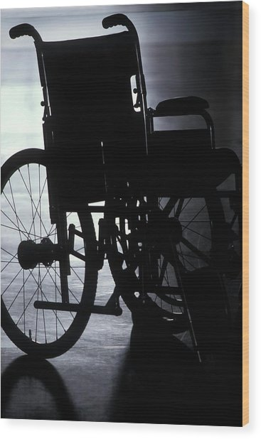 Empty Wheelchair Wood Print