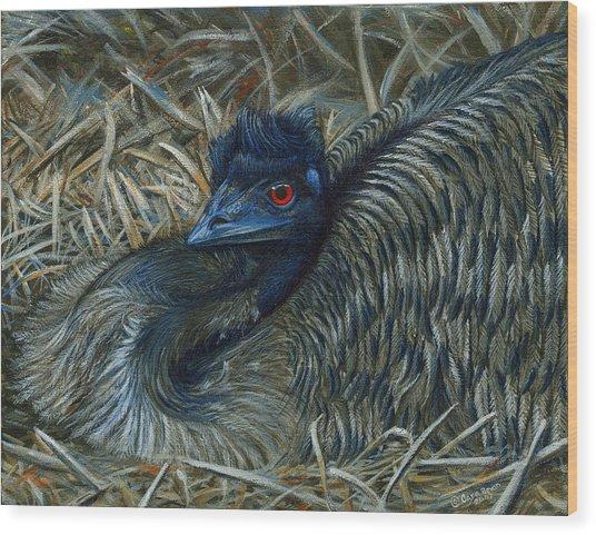 Emu Elegance Wood Print