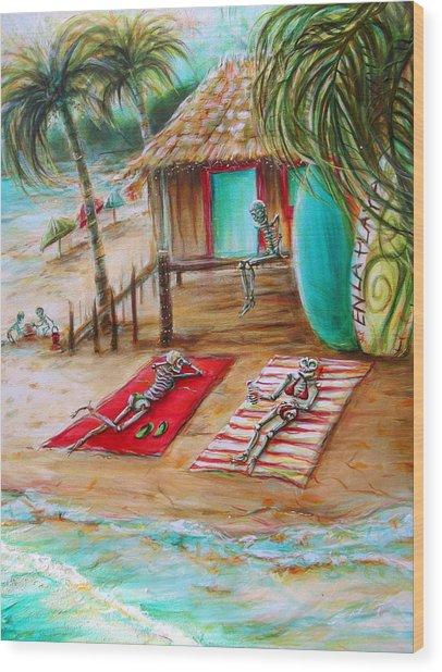 En La Playa Wood Print