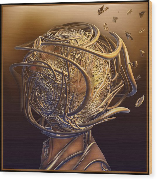 Encased In Thoughts Wood Print