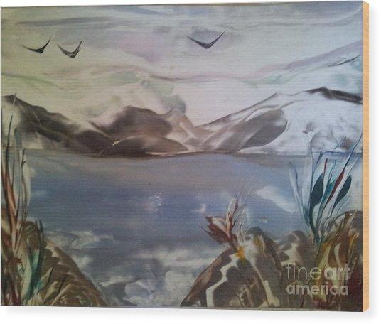 Encaustic Art Wood Print by Debra Piro