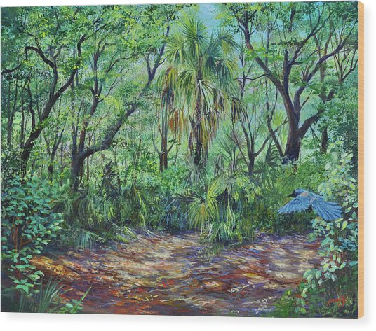 Enchanted Clearing Wood Print