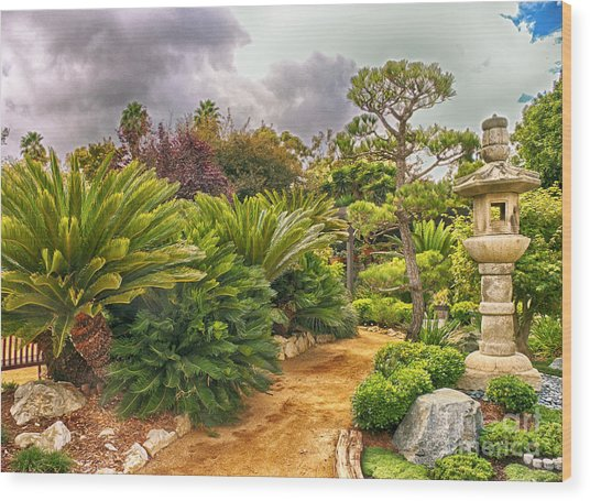 Enchanted Garden 1 Wood Print