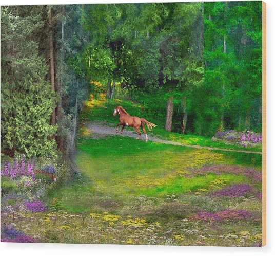 Enchanted Wood Print