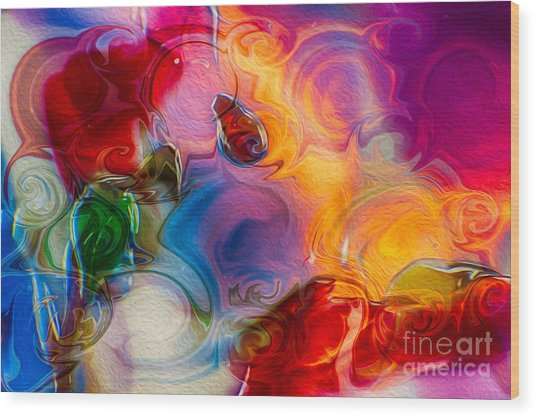 Enchanting Flames Wood Print