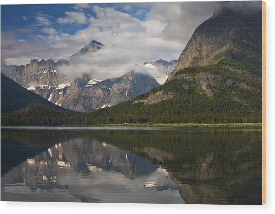 Enchanting Swiftcurrent Wood Print