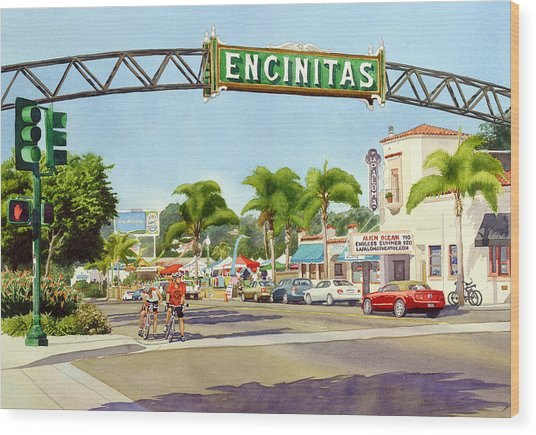 Encinitas California Wood Print