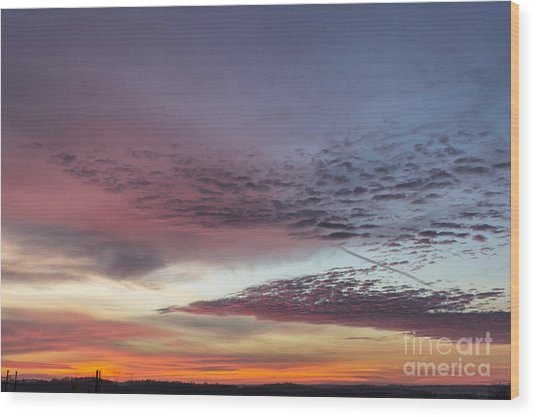 End Of 2012 Sunrise Wood Print