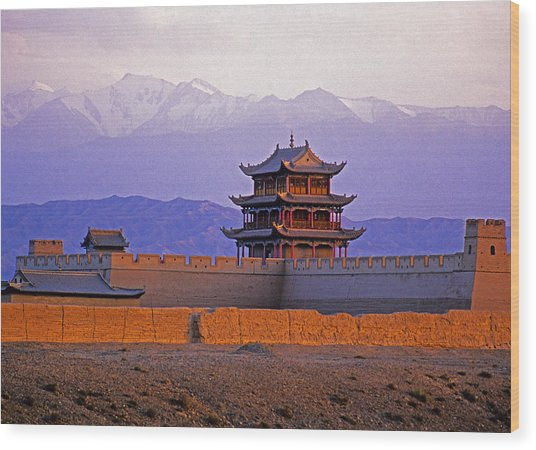 End Of Great Wall Wood Print