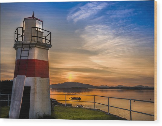 Lighthouse Crinan Canal Argyll Scotland Wood Print