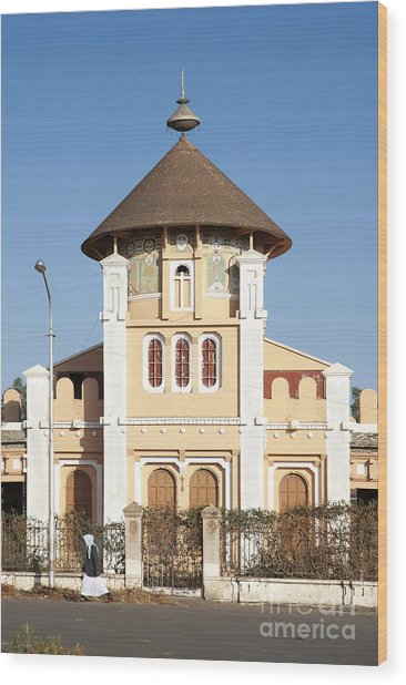 enda Mariam cathedral in asmara eritrea Wood Print
