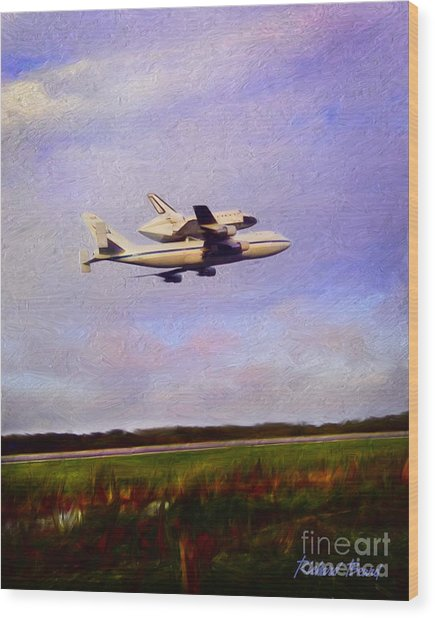 Endeavour The Final Flight Wood Print