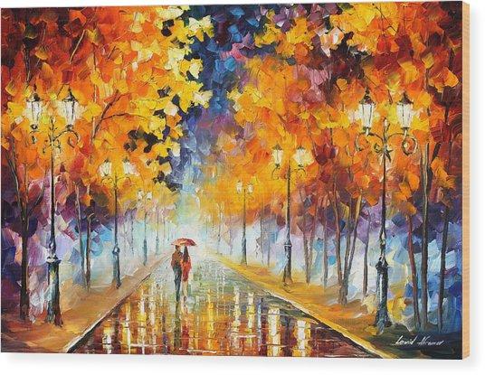 Endless Love Wood Print by Leonid Afremov