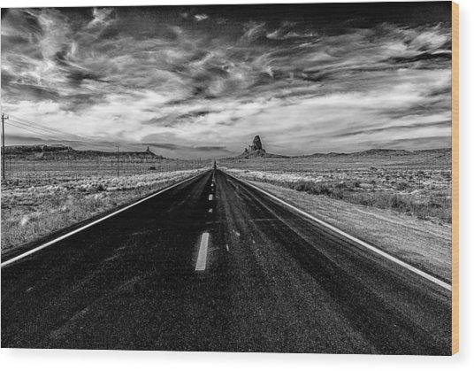 Endless Road Rt 163 Wood Print