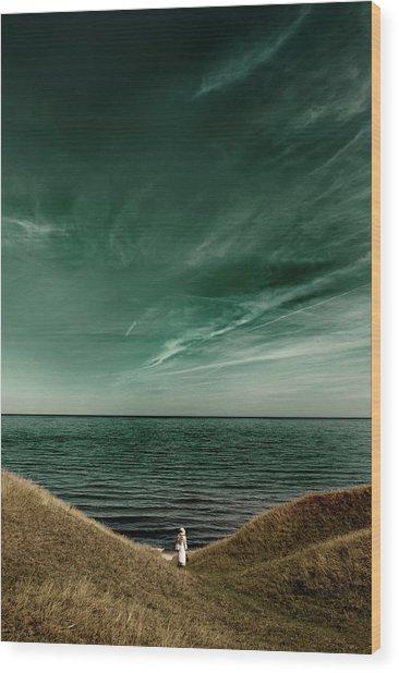 Endless Sea Wood Print by Kristoffer Jonsson