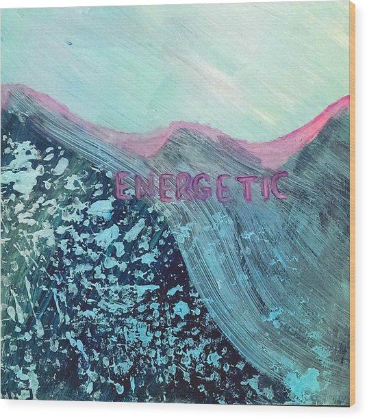 Energetic Wood Print by Lou Belcher