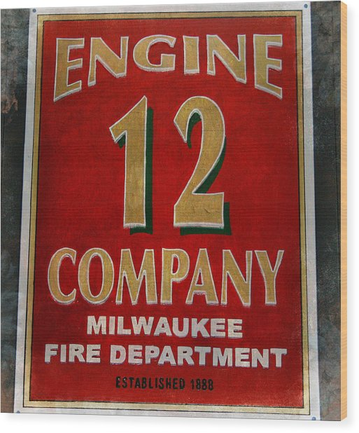 Engine 12 Wood Print