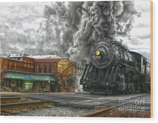 Engine 734 On The Western Maryland Scenic Railroad  Wood Print