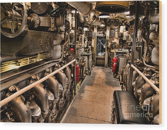 Engine Room Wood Print