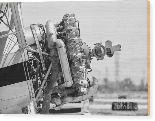 Engines Ready Wood Print by Mkaz Photography