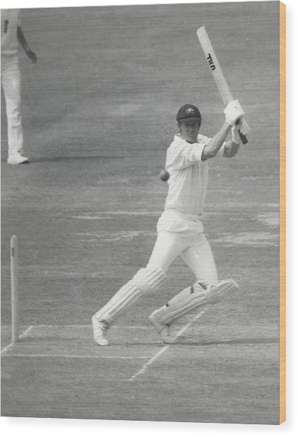 England V Australia At Lords Wood Print by Retro Images Archive