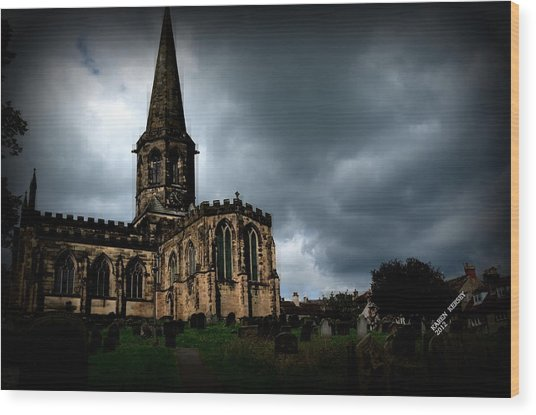 English Church Wood Print