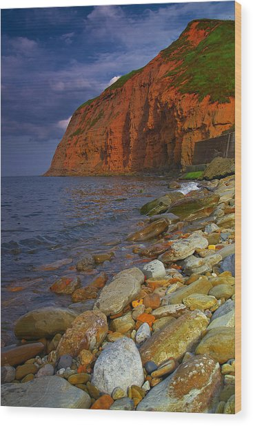 English Coastline Wood Print