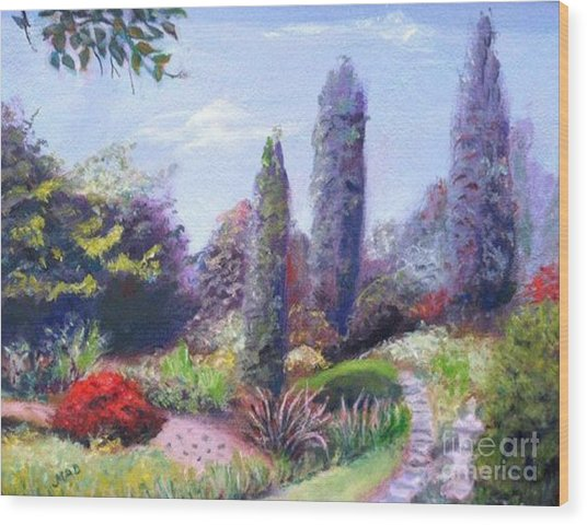 English Estate Gardens Wood Print