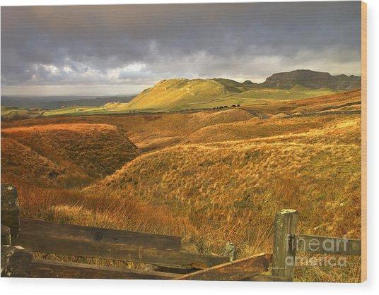 English Moorland Landscape Wood Print