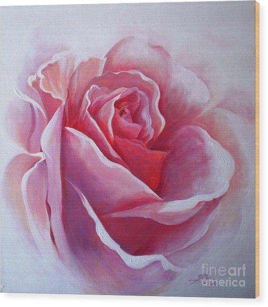 English Rose Wood Print