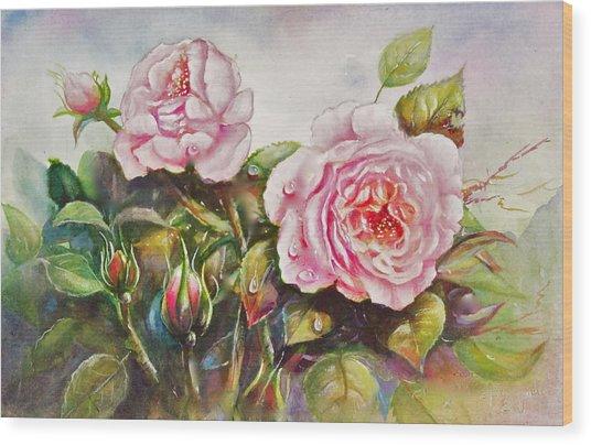 English Roses Wood Print